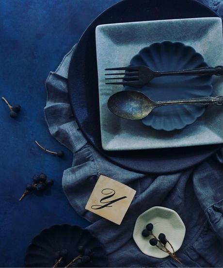45サイズ:深いネイビー系のスタイリングボードkujyaku-blue