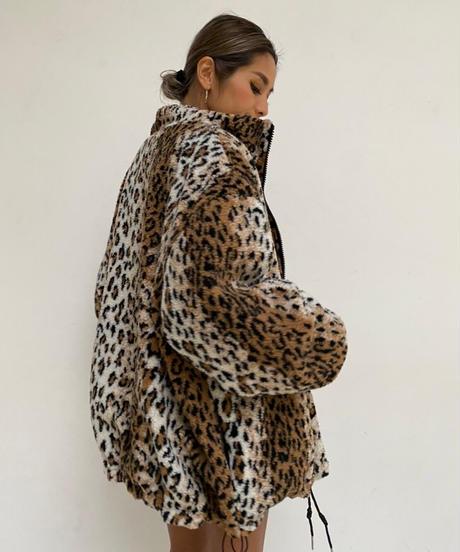 leopard×logo wide blouson「reversible」#8050