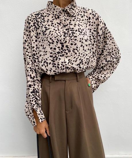 wide shirt「mulch dots」#86332
