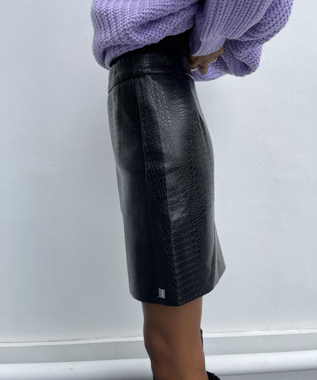 fake leather sk「crocodile」#7128