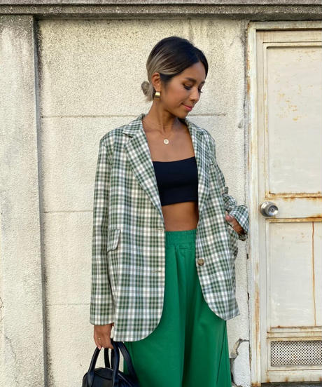 check jk「tartan green 」#9066