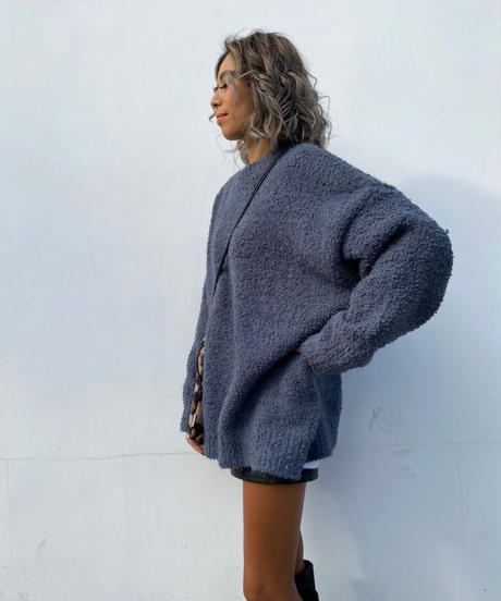 marshmallow wide knit#8695