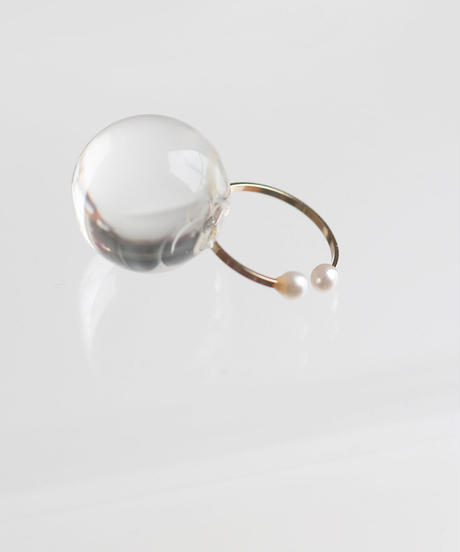 one beads ear cuff clear