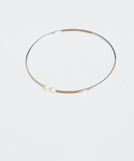 big circle ear cuff  silver