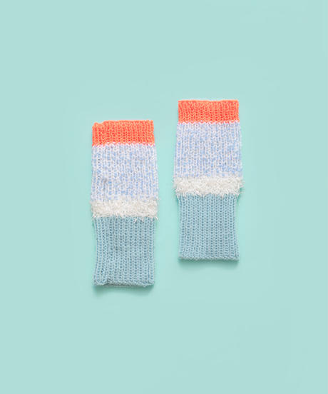 色づかいの編み小物 アームウォーマーの糸セット