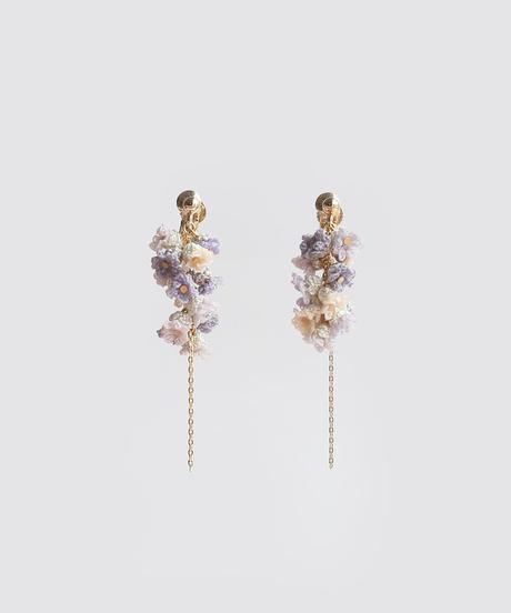 ラベンダーの花粒 ピアス/イヤリング