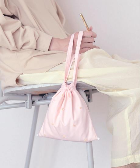 きんちゃくバッグ うすピンク