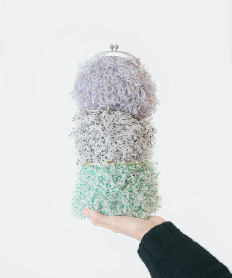 リング編みのがま口ポーチのkit