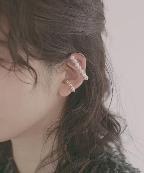 Line ear cuff pearl 大