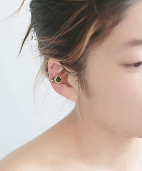 TINY DOT ear cuff  カーキ