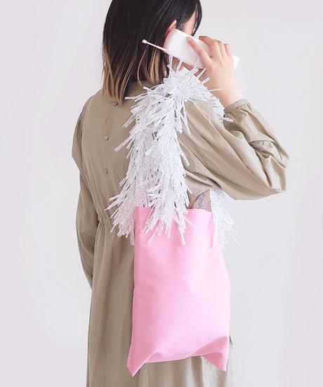 もじゃもじゃバッグ M  みずたまピンク