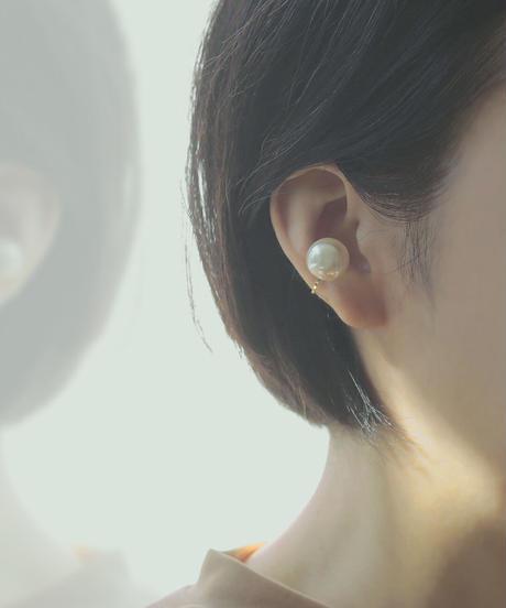 one pearl earcuff