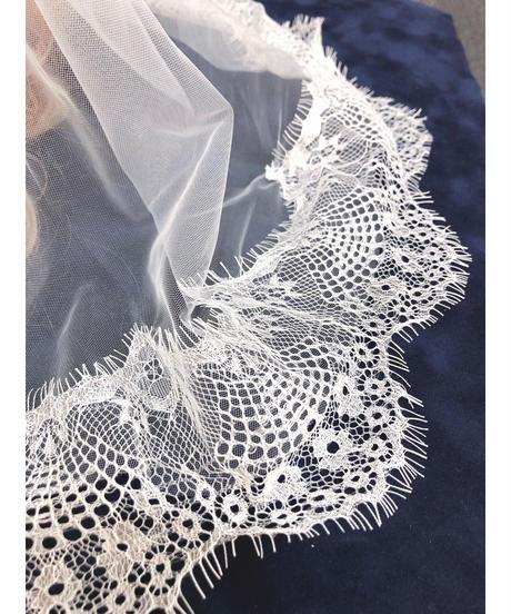 Triple* fortune /ベールヘッドドレス(オフホワイトローズ)