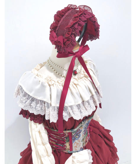 ATELIER-PIERROT/レースシャーリング姫袖ブラウス(Ivory)