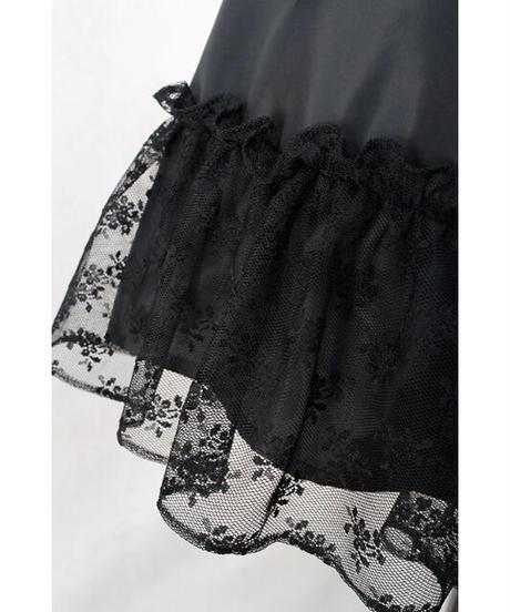 Victorian maiden/フリルミルフィーユアンダースカート (レーシーブラック)