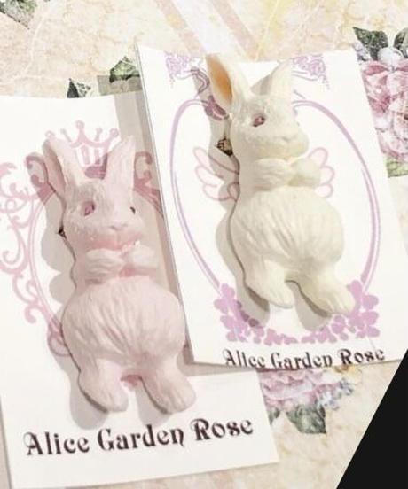 Alice Garden/ポケットinブローチ (うさぎ)白