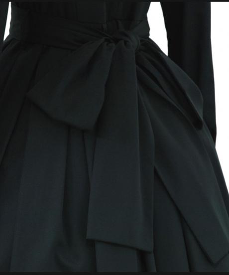 Sheglit/クラシカルタックワンピース (ブラック)Lサイズ