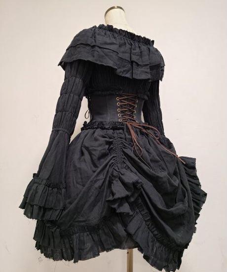 "ATELIER-PIERROT/""decay""series  Skirt (ブラック)"