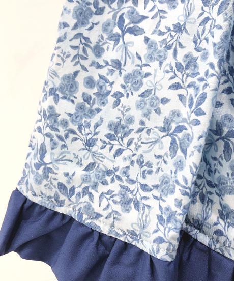 Innocent World  /森のお花のワンピース(ブルー×生成)Mサイズ