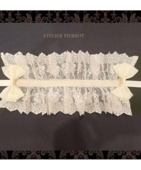 ATELIER-PIERROT/レースリボンヘッドドレス(Iオリジナルレース) Ivory