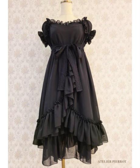 ATELIER-PIERROT/シフォンベビードール(Black )