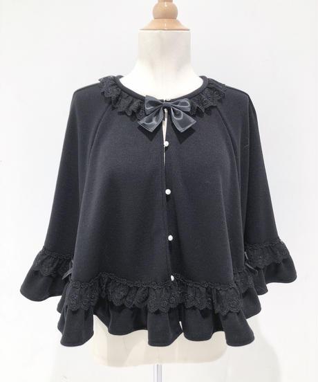 Pina sweetcollection/クラシカルローズポンチョ(ブラック)