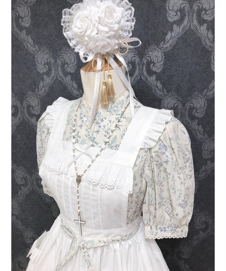 Sheglit/花小径のパフブラウス(ホワイト)