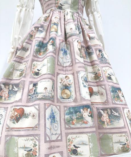 Innocent World/ベルエポックジャンパースカート (ピンク×生成)Lサイズ