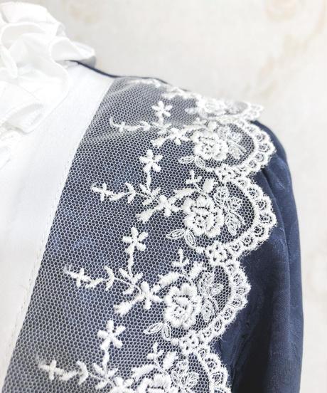 Pina sweetcollection/ローズジャガードワンピース(ネイビー)