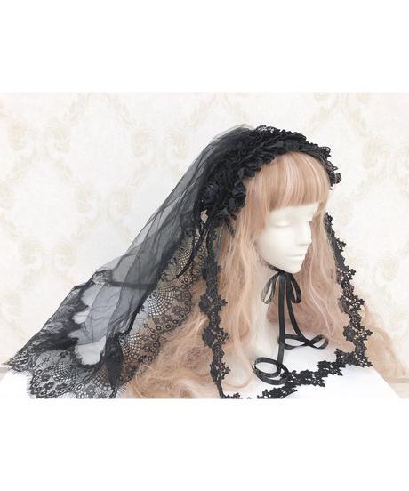 Triple* fortune /ベールヘッドドレス(ブラック)