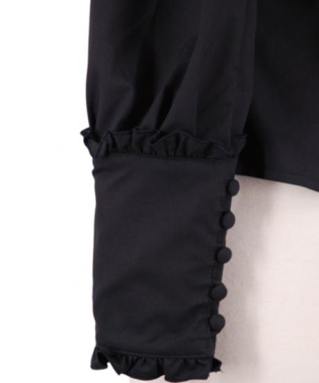 Sheglit/Victorianフリルブラウス (ブラック)
