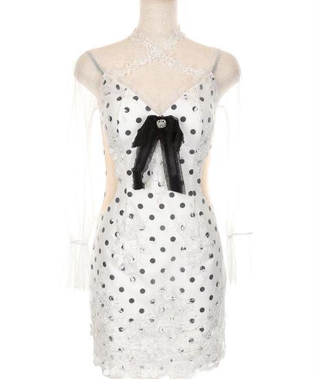 【XSサイズあり】ロマンスパールドットドレス(fm2092)