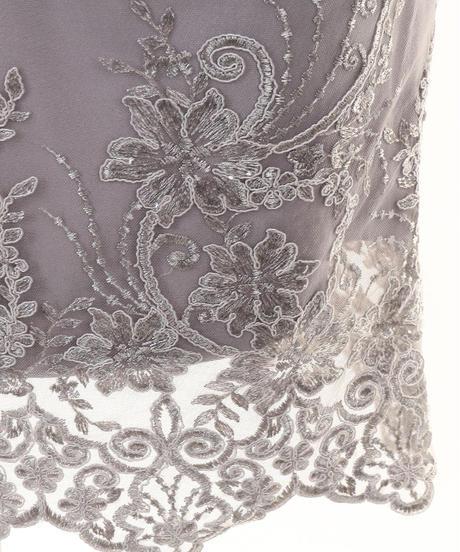 ラグジュアリー刺繍レース×バイカラー切替タイトドレス(DE2016)
