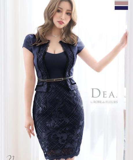 【Lサイズあり】スーツデザイン×タイトミニドレス[ベルト付き](DE2046)
