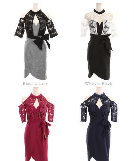 【XS~Lサイズあり】ホルターネック×ストレッチタイトドレス(DE1954)