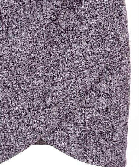【Lサイズあり】ベルトデザイン×サマーツイードタイトドレス(DE1837)