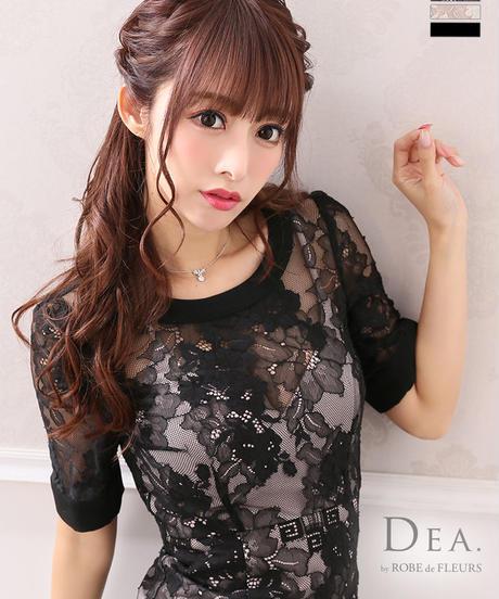 【Lサイズあり】総レース×ワンピースタイトドレス(DE2052)