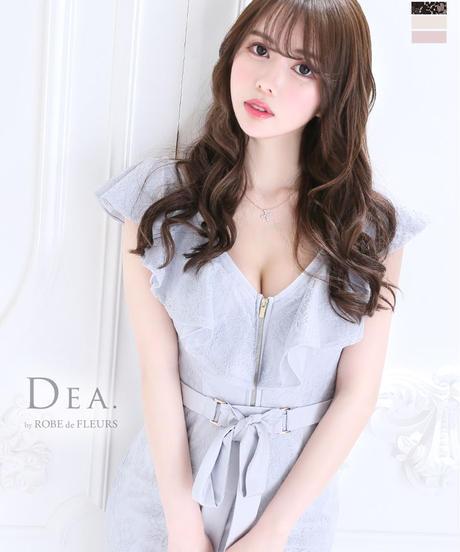 【Lサイズあり】フロントジッパー×ストレッチタイトミニドレス(DE2060)