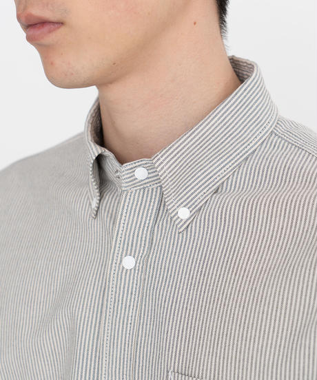 2020FW. THE NORTH FACE PURPLE LABEL Cotton Polyester Stripe OX B.D. Shirt-NT3070N-パープル ストライプ BDシャツ