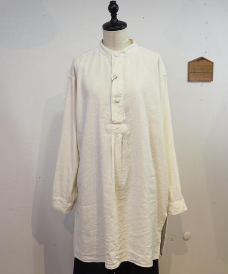 TISSU/シルクリネンバンドカラーシャツ/無地/TS193SH077