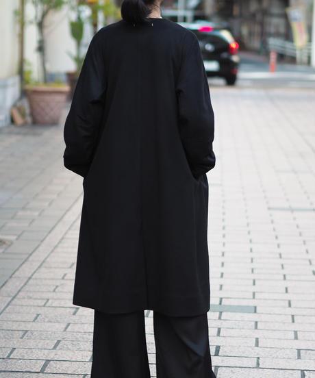 suzuki takayuki/ no-collar coat/black/size01