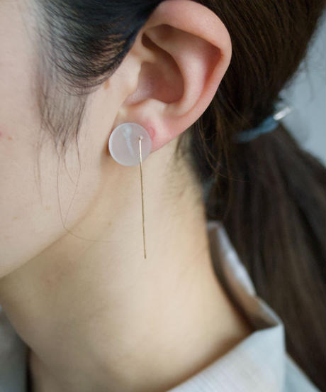 MMAA/oto 16 pair earring (white)