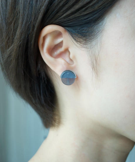 MMAA/oto21  pair pierce・earring (navy)