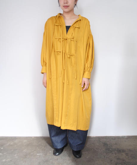 the last flower of the afternoon/静穏な光 smock dress(marigold)