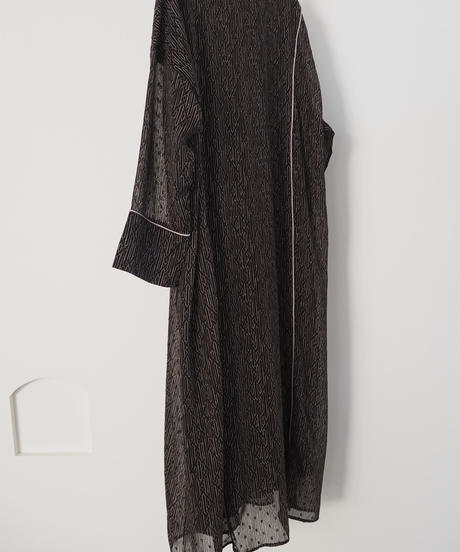 piping long relax dress BLACK 予約終了