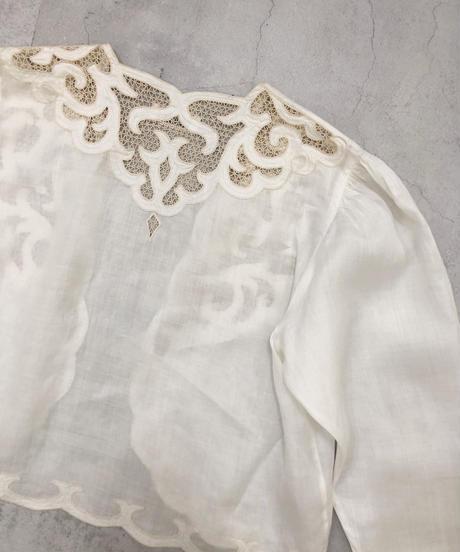 HANAE MORI classical linen bolero tops-1935-6