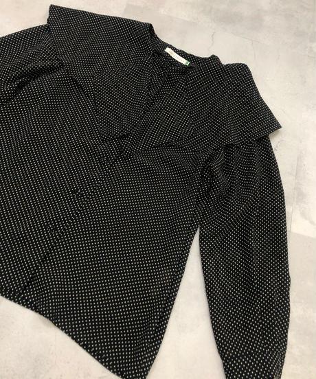 LADY RENOWN dot big collar shirt-1785-3