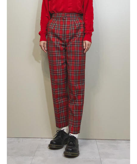 Royal tartan check tapered pants-1553-12
