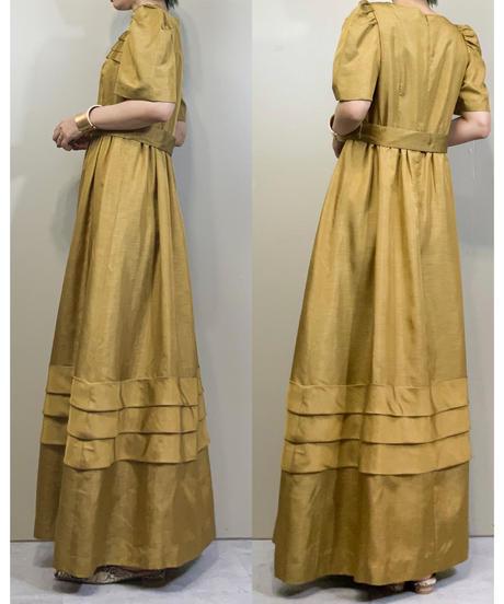 LUIS ESTEVEZ gold color maxi dress-1747-3