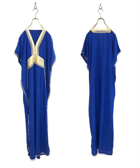 Bright blue vintage maxi dress-1917-5